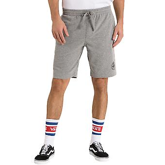 Vans Mens Logo Fleece Casual Summer Gym Sweat Shorts Bottoms - Grey
