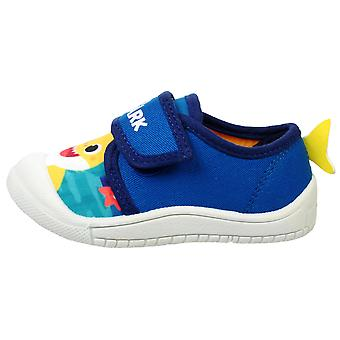 Boys Blue Rico Baby Shark Low-Top Trainer UK Sizes Child 4 - 9