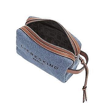 Liebeskind Berlin Gray, Cosmetic Pouch Small Woman, Blue Denim-5270