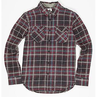Element Hawkins Long Sleeve Shirt in Flint Black