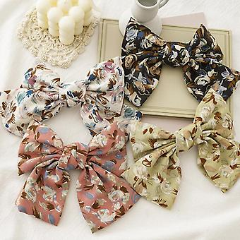 Hair ring spring and summer flower bow spring sweet ladies hairpin