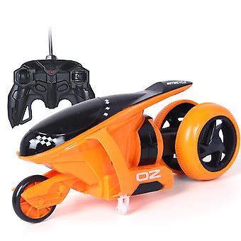 Remote Control Cars Thunder Drift Motorbike Bounce Stunt Toys Gift for Kids Christmas(Orange)