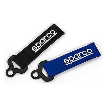 Avaimenperä Sparco 099070AZ Nahka Sininen Musta (2 kpl)
