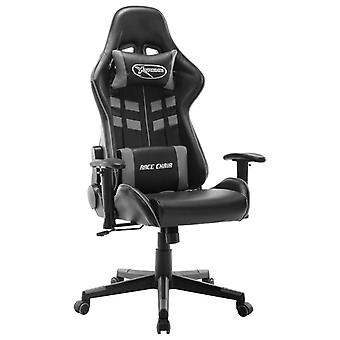 vidaXL Gaming Chair In ecopelle nera e grigia