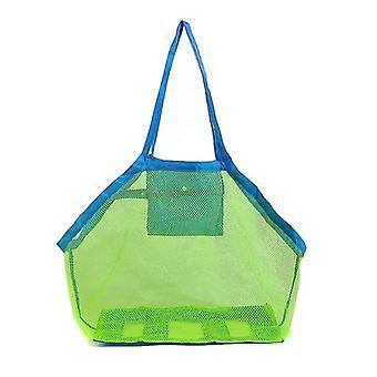 Ultra large mesh beach bag totebeach toys organizer storage bags x7045