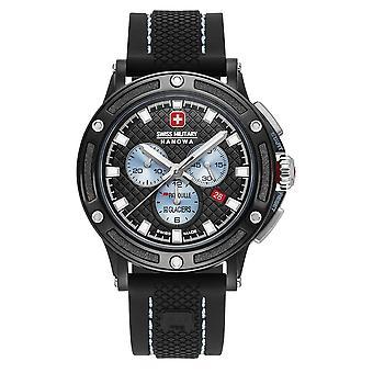 Schweizisk Militär Hanowa - Armbandsur - Herrar - Kvarts - PDGchrono - 06-4348.13.001
