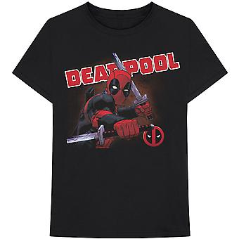 Marvel Comics - Deadpool Cover Heren Groot T-Shirt - Zwart