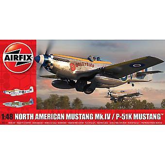 North American Mustang Mk.IV/P-51K Mustang Series 5 1:48 Air Fix Model Kit
