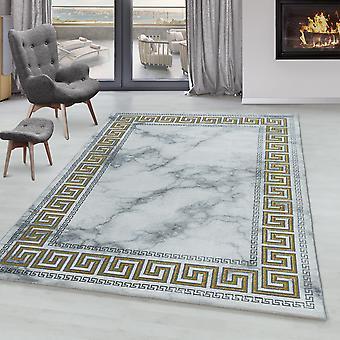 Woonkamer tapijt OXIA korte stapel ontwerp marmer patroon antiek