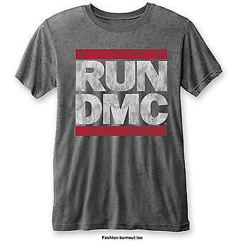 Run DMC - DMC Logo Unisex X-Large T-Shirt - Grey