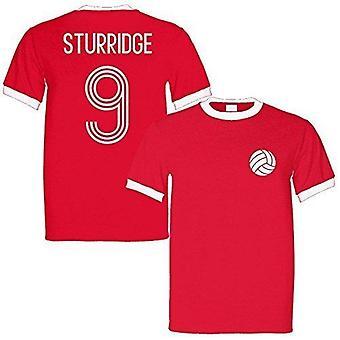 Daniel sturridge 9 england legend ringer retro t-shirt red/white