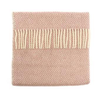 Luxe nieuwe wollen kinderwagen deken in stoffige roze