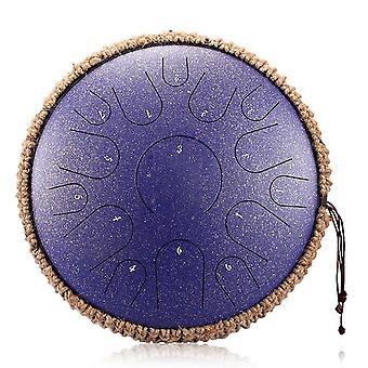 Novo tambor de língua de aço 14 polegadas 15 tons tambor portátil tambor tambor instrumentos de percussão yoga meditação amantes de música iniciante presente