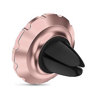 ローズゴールド携帯電話ホルダー、車のエアアウトレット磁気吸引カップタイプ多機能携帯電話ホルダーaz13062