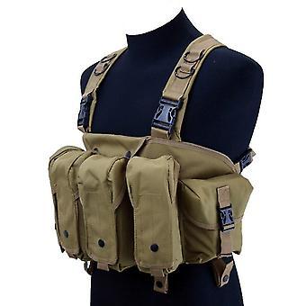 Rig toracico tattico all'aperto di alta qualità airsoft gilet da caccia molle magazine pouch semplice militare