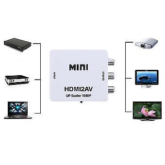 HDmi כדי Av Cvbs אודיו אודיו אות ממיר מתאם עבור טלוויזיה Vhs Vcr Dvd