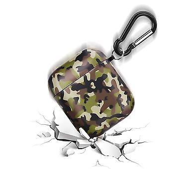 Couvercle pour Airpods 1&2, camouflage Impression Design Protection antichoc