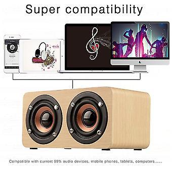 Výkonný reproduktor Wood Bluetooth Vysoce výkonný duální reproduktory