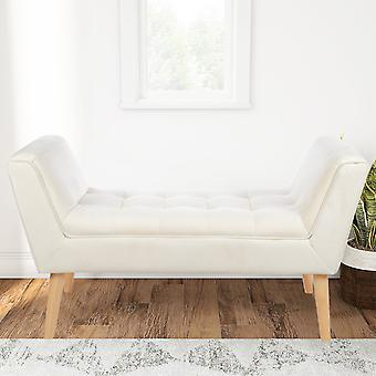 Linen Window Bench Armed Entryway Bench