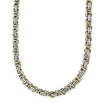 9 mm Chaîne Royale Bracelet Collier Homme Collier Collier, 17 cm d'argent / or en acier inoxydable chaînes