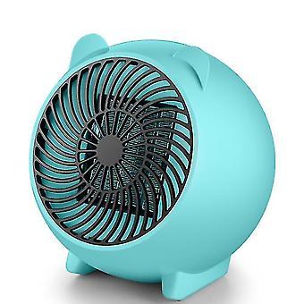 Household Office desktop heater, portable mini hot fan(Blue)