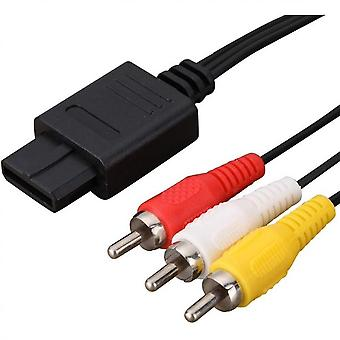 Av Cable Composite Video Cord Compatible With Nintendo 64/n64/gamecube/super Nintendo Snes Tv Game
