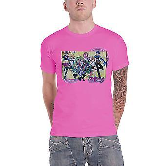 Hatsune Miku T Shirt Showtime Logo new Official Mens Hot Pink