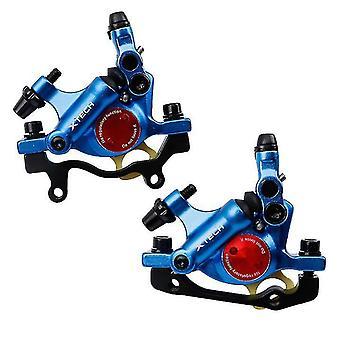 ズームバイクHB-100油圧ディスクブレーキMTBロード自転車ライン引っ張りブレーキクランプ、青(青)