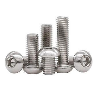 Screws 5/50pc m2 m2.5 m3 m4 m5 m6 m8 304 a2-70 stainless steel black grade 10.9 iso7380 hexagon hex socket button  head screw