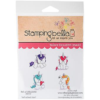 Stamping Bella Cling Stamps - Set Of Unicorns