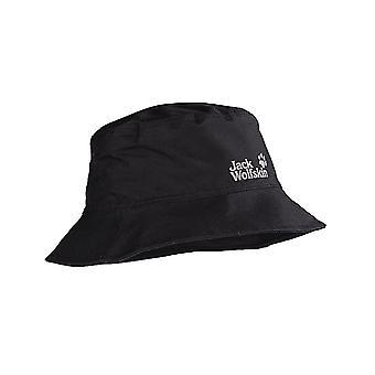 ジャック ウルフスキン テキサポア メンズ 大人耐候性 レイン ハット ブラック