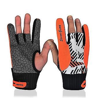 Echte professionelle Anti-Rutsch-Bowling-Handschuhe Semi-Finger-Instrumente
