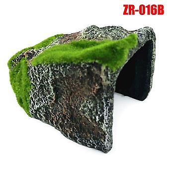 זוחלים קישוט בית גידול מסתיר מערה דג צבי טנק מתחמם קישוט הוא| תפאורת בית גידול
