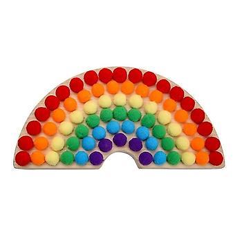 Regenbogen Brett Spielzeug Baby Holz Lernspielzeug Farbsortierung Sensorisches Geschenk für Kinder|