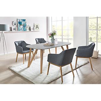 Tomasso's Vicenza Dining Table - Modern - Grey - Mdf - 200 cm x 90 cm x 76 cm