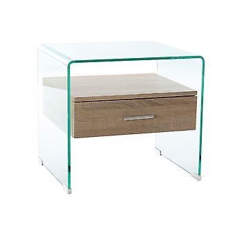 Table de chevet DKD Home Decor Crystal MDF Wood (50 x 40 x 45,5 cm)