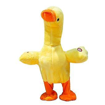 צעצוע בובה קטיפה ברווז חוזר כיף עם הפחתת לחץ חשמלי מבוגרים וילדים יכולים לשחק