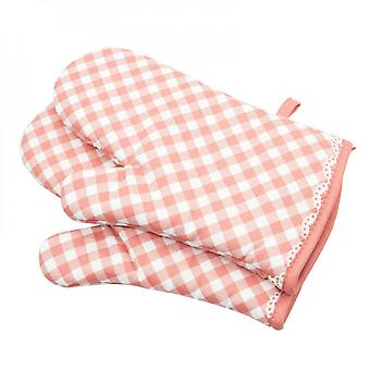 Oven Gloves Non-slip Cotton Quilted Glove Kitchen Pot Holders Cooking Gloves