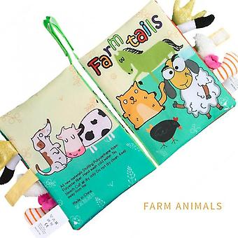 Farm Tails Baby Soft Cloth Reading Books Toddler Early Learning Cognize Toy