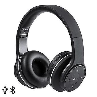 Mp3 players foldable headphones with bluetooth usb fm 6w black 146131
