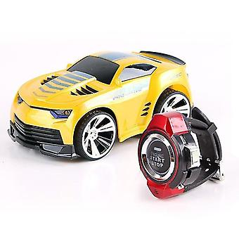 Toy cars mini remote control car 2.4Ghz rc car smart watch voice command high speed drift children smart toy