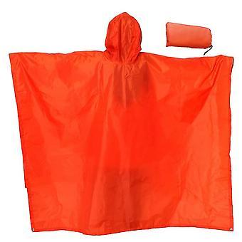 Verdickter Regenmantel Multifunktionaler tragbarer wasserdichter Rucksack (220 * 145cm) (Orange)