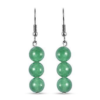 TJC Drop Dangle Ohrringe für Damen Aventurin aus Edelstahl 24.5ct