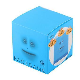 Gesichtsbank Gesichtsgeldtopf Automatische Essmünze und Spardose Sparschwein (Blau)