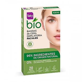 Facial Hair Removal Strips Bio Natural Taky (20 Uds) 24303 24303 24303