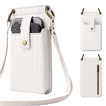 Femmes Crocodile Pattern Phone Purse Card Holder Wallet Crossbody Bag Cadeau de Noël