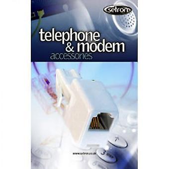 UK Plug RJ11 Socket - Modem telefonkontakten - hvit