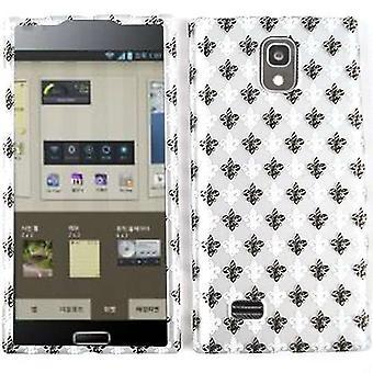 Rajoittamaton Cellular Snap-on tapa uksessa LG Spectrum 2 VS930-Trans. Design, musta & White Saints logo harmaa