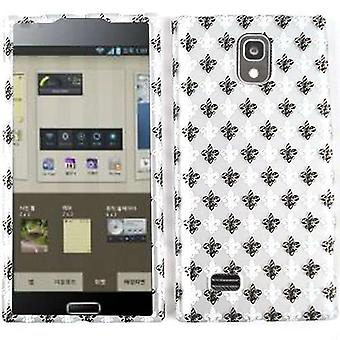 Unlimited Cellular Snap-On Case for LG Spectrum 2 VS930 - Trans. Design, Black - White Saints Logo On Gray