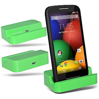 ONX3 Nokia Lumia 630 / Lumia 630 Dual SIM Micro USB Charging Dock Cradle Desktop Charger Station-Green